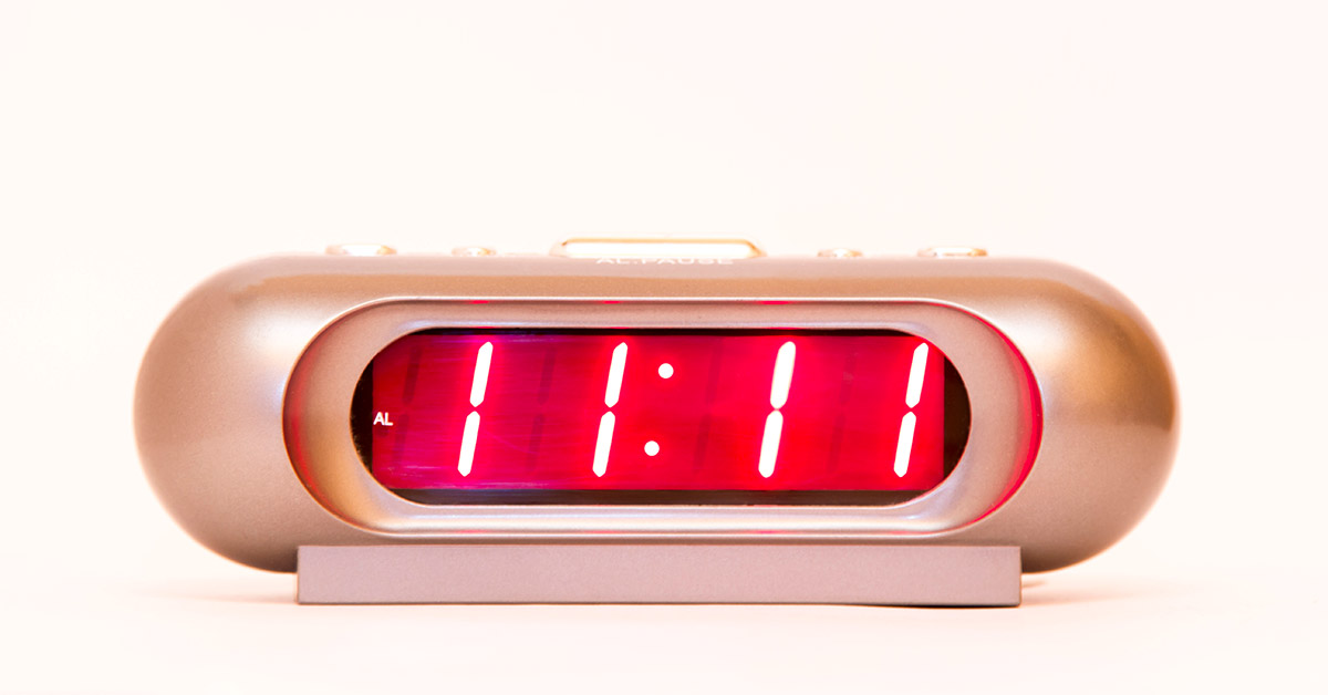 repeating number 1111 on alarm clock