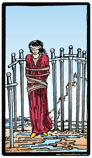 Eight Of Swords Tarot Card Meaning