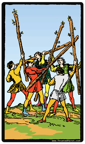 five of wands tarot card meaning timing more