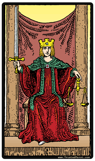 interpretation carte tarot la justice