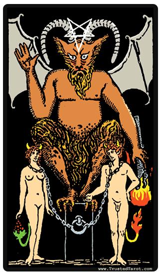 Carte Tarot Diable.Signification Carte Tarot Le Diable