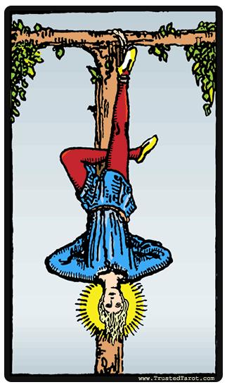 carte tarot signification le pendu