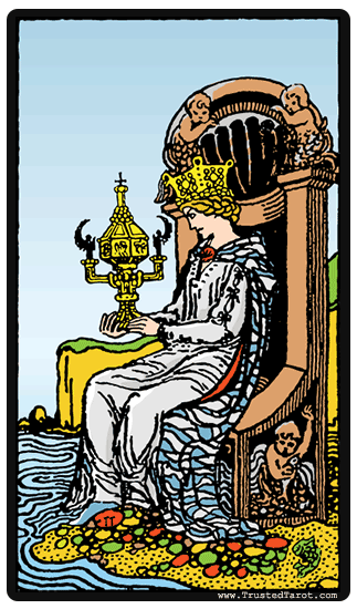 Queen Of Cups Tarot Car Meaning