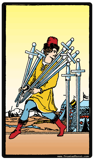 Seven of Swords Tarot Card Meaning!