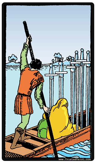 6 Of Pentacles As Advice: Six Of Swords Tarot Card Meaning