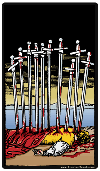 Image result for Ten of Swords Card