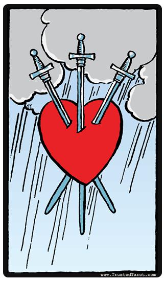 Three of Swords Tarot Card Meaning